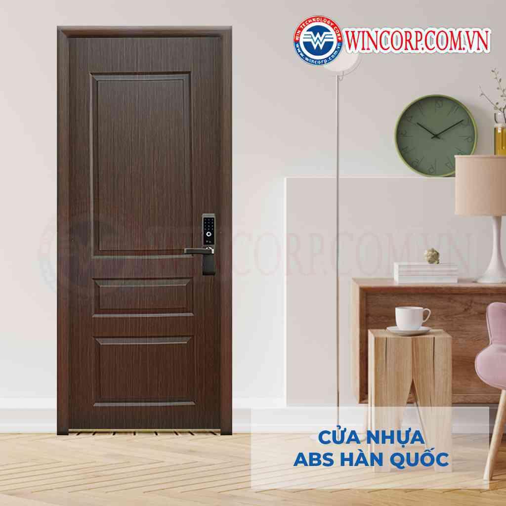 Mẫu cửa nhựa Hàn Quốc dùng làm cửa phòng ngủ cách âm KOS 611-U6405
