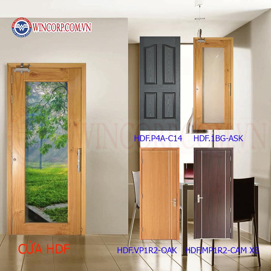 Cửa nhà vệ sinh dùng cửa gỗ công nghiệp HDF