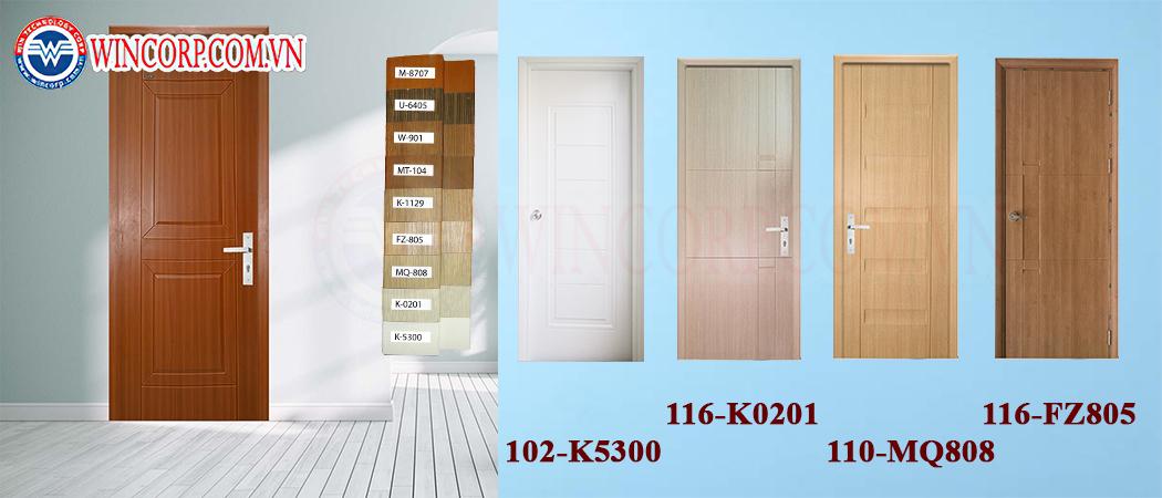 Đa dạng về màu sắc và kích thước của dòng cửa nhựa ABS Hàn Quốc