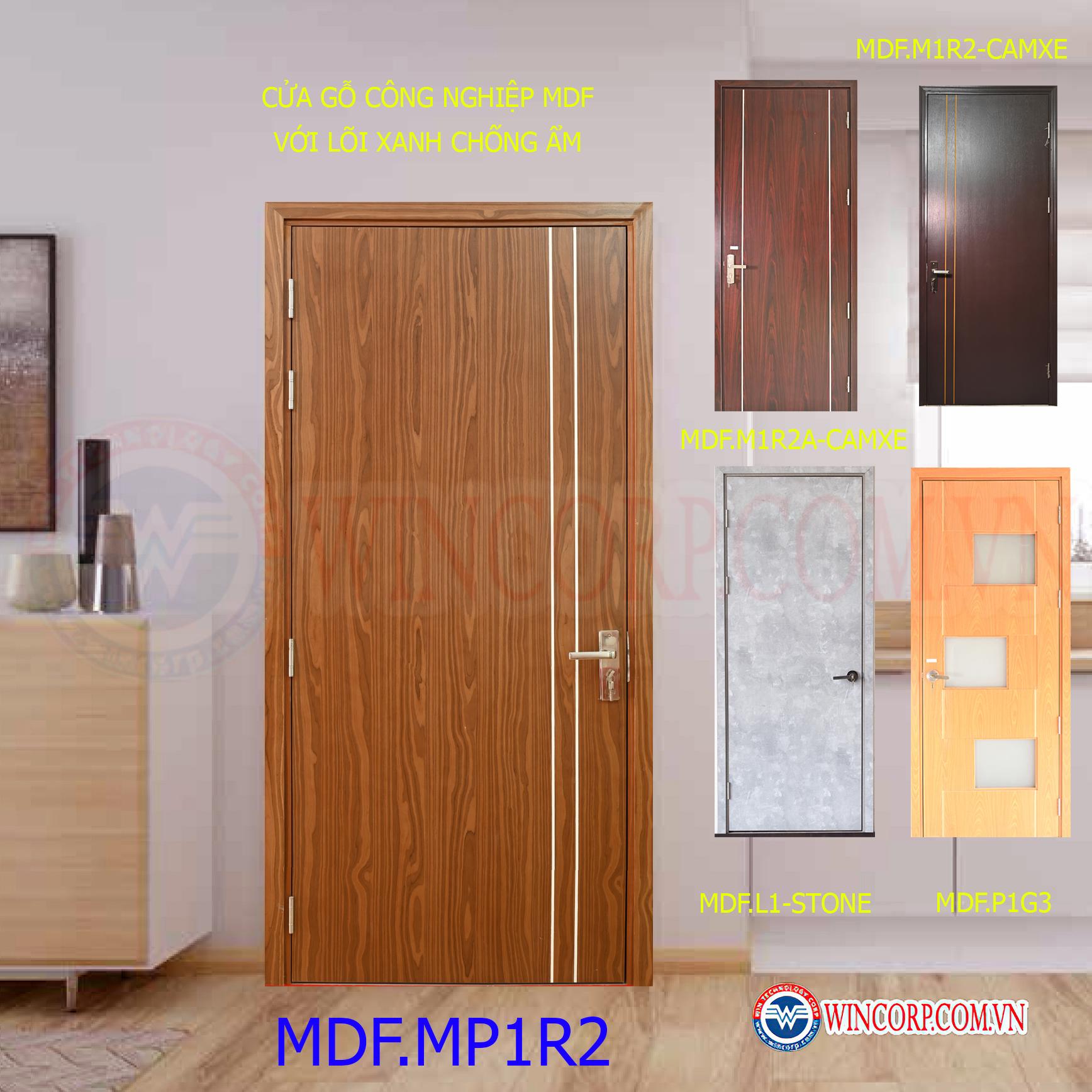 Cửa nhà vệ sinh dùng cửa gỗ công nghiệp MDF lõi xanh chống ẩm
