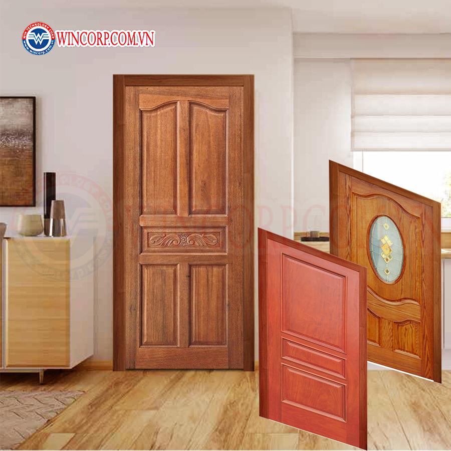 Cửa gỗ tự nhiên được dùng làm cửa nhà vệ sinh